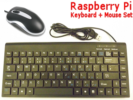 usb wired mouse mini keyboard for use with the raspberry pi ebay. Black Bedroom Furniture Sets. Home Design Ideas
