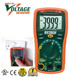 Extech EX330 MultiMeter with Non-Contact AC Voltage Detector / Temperature