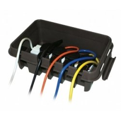 DRIBOX Complete With 10 Metre 4 Gang Mains Extension Lead - Weatherproof Enclosure for Garden & DIY