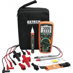 Extech EX505 Heavy Duty Industrial MultiMeter Kit - With AC Voltage Detector