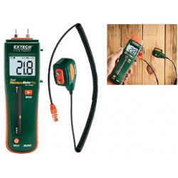 Extech MO265 Combination Pin & Pinless Moisture Meter - with External Probe Socket