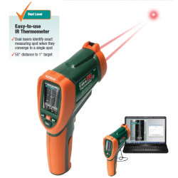 "Extech VIR50 Dual Laser IR Video Thermometer 2.2"" Colour TFT LCD Display and Built-in Camera"
