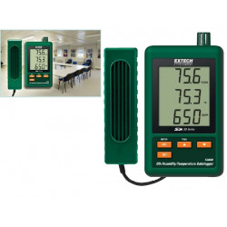 Extech SD800 CO2 Humidity Temperature Datalogger Records Directly to SD Memory Card