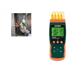 Extech SDL200 4 Channel SD Card Datalogging Thermometer