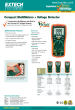 Extech EX330 MultiMeter with Non-Contact AC Voltage Detector / Temperature Datasheet