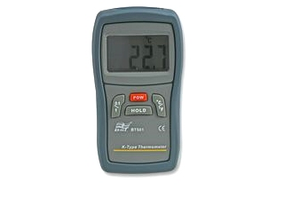 Handheld Thermometer with Internal sensor and K-Type connector