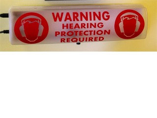 LED Warning Sign for the EXTECH SL130 (SLAVE)