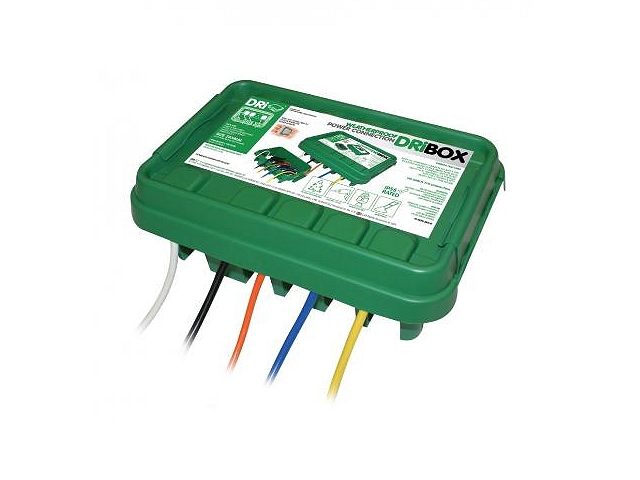 Weatherproof outdoors electrical connection box