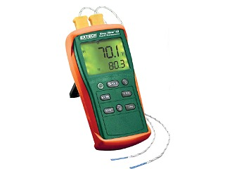EasyView Type K Dual Input Thermometer with Dual readings