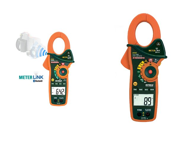Extech 1000A AC/DC True RMS Clamp/DMM IR Thermometer Bluetooth